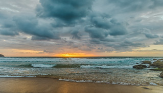 Cloudy Sunrise Seascape