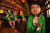 Stop Elfing Around! (Jenny Onsager) Tags: elfing elf christmas family library holidays couch leathercouch christmascard