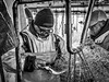 Retour de pêche. (francis_bellin) Tags: olympus 2017 noiretblanc pêcheurs pêche sète décembre poisson labeur