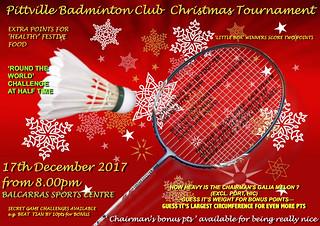Senior Club Christmas Tournament 2017