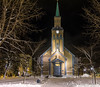 In the bleak midwinter comes the solstice (keithhull) Tags: cathedral tromso arctic norway winter 2015 historic nightshot 1861