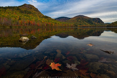 South Branch Pond (Adam Woodworth) Tags: autumn baxterstatepark fall leaves maine mountains newengland reflection southbranchpond travelermountains travelerrange winter
