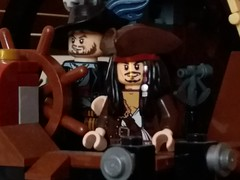 Taking the helm (eddiemck123) Tags: lego jacksparrow hectorbarbose piratesofthecarribean ship moc toy pirates