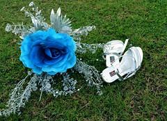 Love starts (ananda.pradeep@ymail.com) Tags: flower bouquet wedding shoes bridal white blue rose