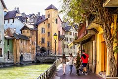 Annecy (PLN54) Tags: annecy bridge tree bikes canal