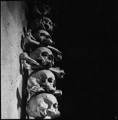 Sedlec Ossuary (argentography) Tags: kutnahora sedlecossuary czechrepublic czechia skull yashica 124 rolleisuperpan europe