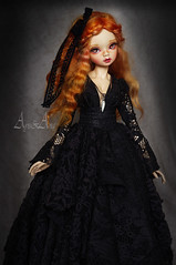 Dark Night (AyuAna) Tags: bjd ball jointed doll dollfie ayuana design handmade ooak clothing clothes dress set fashion couture sewing crafting gown outfit slim msd mnf minifee size daraki remy light tan skin
