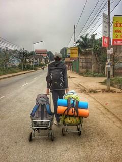Back view,Laos