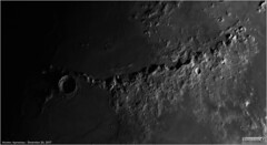 Montes Apenninus – December 26, 2017 (LeisurelyScientist.com) Tags: tomwildoner night sky space outerspace meade telescope lx90 celestron cgemdx asi190mc zwo astronomy astronomer science canon crater moon lunar weatherly pennsylvania observatory darksideobservatory leisurelyscientist leisurelyscientistcom tdsobservatory solarsystem montes apenninus mountains craters december 2017