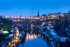 A cold, grey morning in Bern (jaeschol) Tags: europa kantonbern kontinent schweiz stadtbern suisse switzerland bern ch aare river morgen morning blue winter schnee