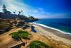 La Jolla Cove in California (` Toshio ') Tags: toshio lajollacove lajolla sandiego california beach cove sand wave pacific ocean sea cliff fujixt2 xt2