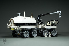 Heim Industries MXB (Mobile Exploration Base) (Robiwan_Kenobi) Tags: robiwankenobi lego moc space moon base rover ship scifi microscale
