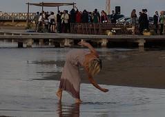 Playa del Trabucador, Sant Carles de Rapita. (angelalonso4) Tags: agua mediterraneo canon water lady meer hat alfaques la españa