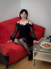 Happy New Year Everyone! (blackietv) Tags: black blouse skirt frills frilly party tgirl transvestite crossdresser crossdressing transgender