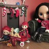 BaD 6 January 2018: Toys (jefalump) Tags: lps blythe littlestpetshop petiteblythe autumnglam takara lovemission radioflyer hulkbuster ironman skateboard teddybear christmas stockings fireplace
