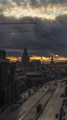 Moscow after a snow storm (khandozhkoa) Tags: moscow russia snapshot weather city cityscape citylife colors colorful winter 2018 sony sonyalpha amateurs a7riii 24105g sunset twilight