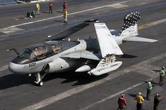 163046_EA-6BProwler_USNavy_Ike [Explored] (Tony Osborne - Rotorfocus) Tags: eisenhower d dwight uss 2007 afghanistan freedom enduring operation ea6b grumman ea6 prowler united states navy usn electronic warfare ew