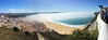 Nazare, Portugal (Marian Pollock) Tags: portugal europe nazaré cliff cloud sea city lookout beach sky landscape funicular mist people sand town rooftops fromabove redroofs hills seascape coast water