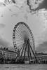 Lyon (Penna_bianca) Tags: ferriswheel famousplace blackandwhite outdoors sky traveldestinations europe river england wheel tourism fun uk cultures millenniumwheel travel day urbanscene history londonengland