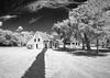 Kingley Plantation - Kitchen House and Plantation House (Ed Rosack) Tags: grass path usa building ©edrosack panorama florida tree porch cloud buildingandarchitecture blackandwhite sky infrared bw landscape house jacksonville cloudy ir