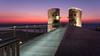 Israel National Trail: Tzuk Beach to Wingate Institute (ekoloskov) Tags: israel beach beachfront sea mediterraneansea architecture seaview sunset seasunset pentax sigma pink