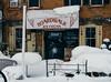 Don't you eat that yellow snow (bill.d) Tags: allegan allegancounty michigan unitedstates boardwalk icecream outdoor restaurant snow winter us