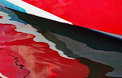 Abstract Boat Reflection (Ciceruacchio) Tags: abstract abstrait astratto boat bateau barca relection reflexion reflet riflessione colors couleurs colori red rouge rosso water aqua eau saintjeandeluz france francia frankreich canon