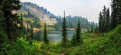 Margaret Lake (KPortin) Tags: margaretlake trees lake smoke explore landscape hiker