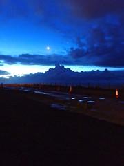Arrival @ the Cliff-Top (bimbler2009) Tags: olympustg4 sky cloud predawn moon luna