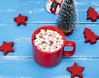 Hot chocolate with marshmallows on red ceramic mug (natalyadanko) Tags: marshmallow cocoa wood background beverage blue cacao celebration chocolate christmas comfort cup decoration dessert drink festive food gourmet holiday homemade hot mug new red rustic star sweet table tasty top view white winter wooden xmas year