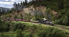 #315 at the 550 curve (LSallee) Tags: railroad train ds durangosouthern narrowgauge 315 denverriograndewestern colorado steamengine railfest2010