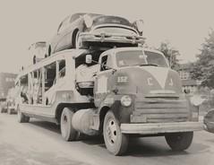 Chevy LCF; C&J #552 (PAcarhauler) Tags: carcarrier semi chevy gmc buick truck coe trailer