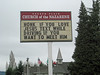 Don't Text and Drive (PDX Flyer) Tags: sign church jesus text texting drive driving funny