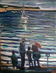 Family in Rockport (The Big Jiggety) Tags: painting oil canvas huile toile oleo lienzo resort family ocean rockport massachusetts usa america
