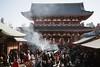 Afternoon at Senso-ji (Mushi Kid) Tags: asakusa tokyo japan asia holiday winter shrine temple smoke incense crowd nikon d750