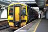 158720 stands at Haymarket (trainferrystuff) Tags: trains railways scotland scotrail 2k71 class 158 158720 haymarket