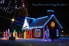 Santas House (Swift Wings) Tags: winter snow christmas lights sparkle cold night santa beautiful colours magical