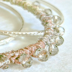 Solstice Bangle ombre crystal igram (vashtirama) Tags: designingvashti crochetjewelry bangle crochetbracelet coveredring beaded beads