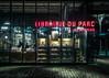 Librairie du parc (Bookshop) (ericbeaume) Tags: iphone paris lavillette shop books bookshop people urban nightview night lights street bricks reflection shadows ericbeaume