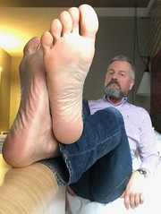 Bare feets Brussels. (silvpix) Tags: beard bed jeans hotel brussels man guy soles feet barefeet barefoot barefeets