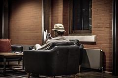 Oldie goodie (Mr*J) Tags: old vintage grain museum hobart streephotography australia nikon 50mm d7200 snapshot stranger people reading