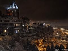 Ville de Québec (clamato39) Tags: villedequébec quebeccity provincedequébec quebec canada poselongue longexposure night nightshot lumières light nuit urban urbain ville city