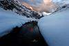 Little Flow (Laurent BASTIDE Photographies) Tags: river mountains snow sky light red sunset pyrennes landscape fine art