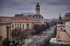 Old Post Office Clock Tower and Pennsylvania Avenue viewed from The Newseum - Washington DC (mbell1975) Tags: washington districtofcolumbia unitedstates us old post office clock tower pennsylvania avenue viewed from the newseum dc washingtondc usa america american clocktower turm postoffice fcc