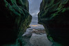Mossy Cave 2 (borders92109) Tags: san diego la jolla california beach sunset moss sand ocean sea sky clouds water sony a6000 rokinon 12mm f20 mirrorless cave low tide new years day 2018