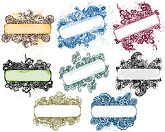 Floral Grunge Banner Vector Pack (stockgraphicdesigns) Tags: banners border card decor decoration decorative dirty elegant filigree floral flourish flowers framesshield greeting grunge handdrawn illustration message nature ornaments ornate panel placard rust splatter swirl text