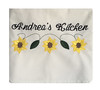 (initial_impressions) Tags: embroidered personalized floursackkitchentowelwithsunflowerembroiderydesign