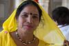 Yellow woman at Amber fort (Pepe Soler Garcisànchez) Tags: sonya7m2 nikon70210mmf1456 jaipur amber india rajasthan amer ilce7m2