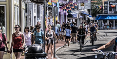 Commercial St, August 2 (PAJ880) Tags: provincetown ma comecial st shoppers shops crowd sun sumer cape cod