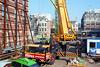 Mobile crane building tower crane (davidvankeulen) Tags: europe europa amsterdam metropoolamsterdam metropolitanregionamsterdam kalvertoren winkelcentrum shoppingmall bouwen building hbm multivastgoed multicorporation stad city stadt ville davidvankeulen davidvankeulennl davidcvankeulen urbandc